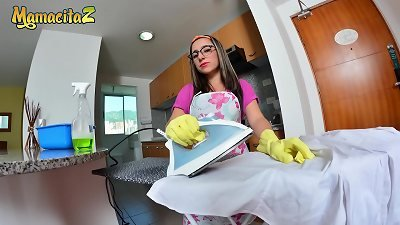 MAMACITAZ - super-cute Latina Maid Francis Restrepo rails Her boss In scorching pov hump