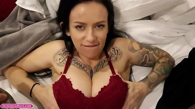 enormous tit older Aussie tattooed Instagram Model cougars ONLYFANS rapid pulverize With roommate Before Her husband Gets Home pov behind the scenes - Melody Radford