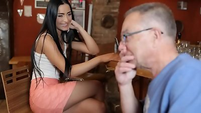 naughty Czech babe Can't resist older Man's Charms - Anna Rose