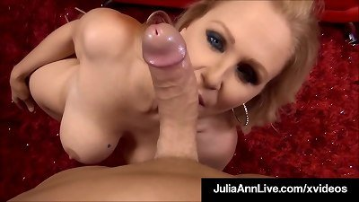 spectacular chesty mom Julia Ann milks A lucky firm Cock!