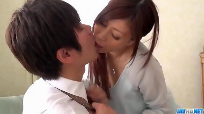 Chihiro Akino makes magic once getting her hands on cock  - More at javhd.net