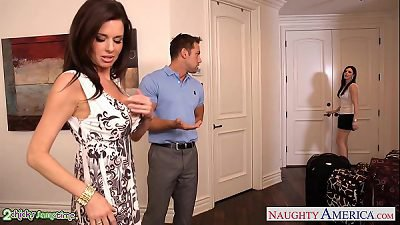 Brunettes India Summer and Veronica Avluv share a big dick