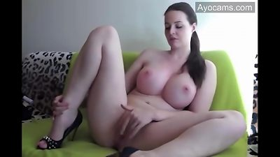 round busty Russian mommy with big natural globes