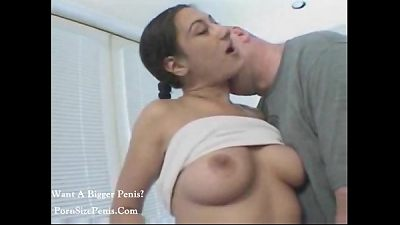 scorching nice chick getting fuck by old dick