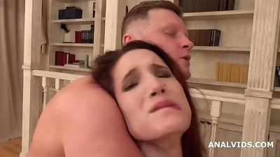 Busted DP Mia Sanders First Time DP with Balls Deep Anal, Gapes, Rough Sex and Cum in Mouth GL171