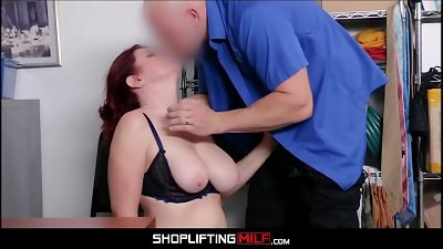 Big Ass Big Tits MILF Redhead Shoplifter Andi James Fucked By Officer For Freedom