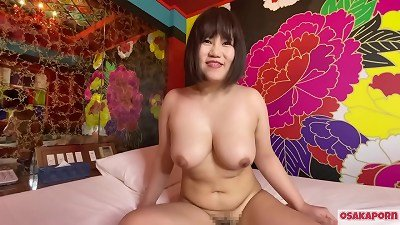 japanese nice damsel with thick funbags masturbates with hook-up fucktoys and gets orgasm. She enjoys oral job with fat titties and hairy cootchie shriek loudly. bbw plump  Osakaporn